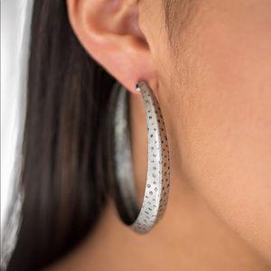 Jungle To Jungle Silver Hoop Earrings